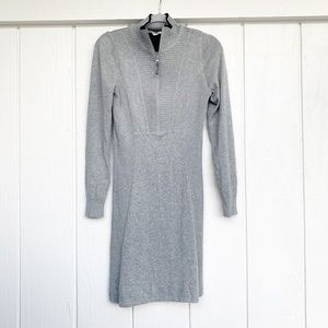 ATHLETA Gray Durango Long Sleeve Gray Dress M
